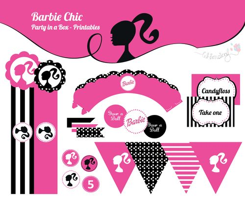 ONLINE STORE - Barbie Chic - Party in a box  http://awishawaywhimsical.blogspot.com/p/online-store_8.html#!/~/product/category=8473018&id=32883088