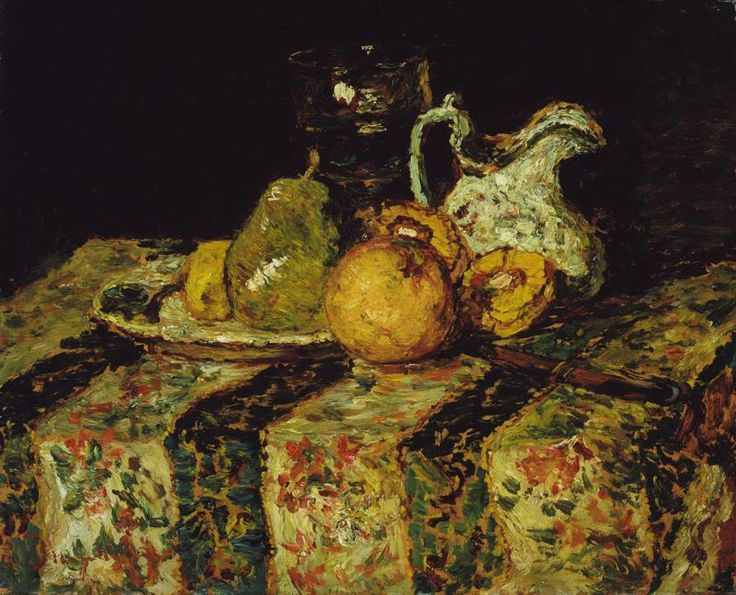 Still Life with Fruit and Wine Jug, 1874, Adolphe-Joseph-Thomas Monticelli. French (1824 - 1886)