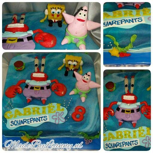 Spongebob squarepants, Patrick de zeester en meneer krab taart!