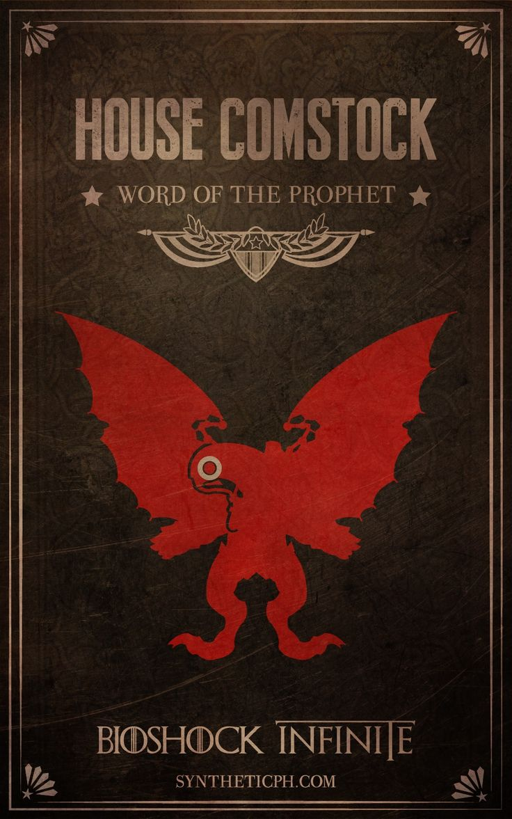 House Comstock: Word of the Prophet. (Bioshock Infinite/Game of Thrones mashup by Synthetic Picture Haus) #gamer #geek