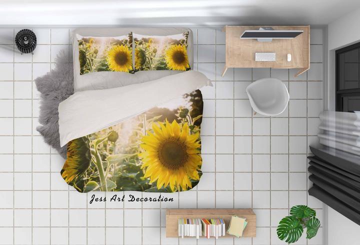 1 3d Sunflower Sunshine Quilt Cover Set Bedding Set Duvet Cover Pillowca Jessartdecoration Duvet Bedding Sets Quilt Cover Sets Duvet Cover Sets
