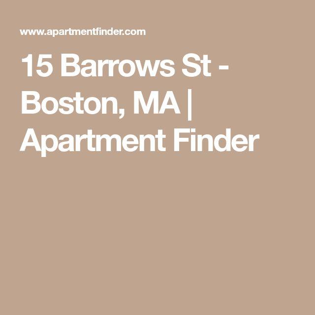 15 Barrows St - Boston, MA   Apartment Finder
