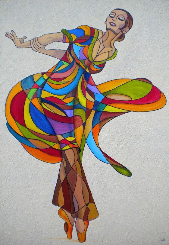 Danseuse TECHNIQUE: Oil on canvas SIZE: 27.58'' X 39.4'' x 1.77''
