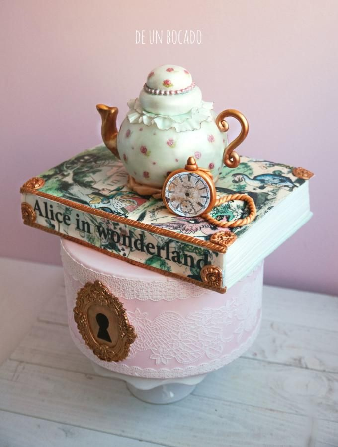Alice in Wonderland wedding cake by Carmen - http://cakesdecor.com/cakes/206434-alice-in-wonderland-wedding-cake