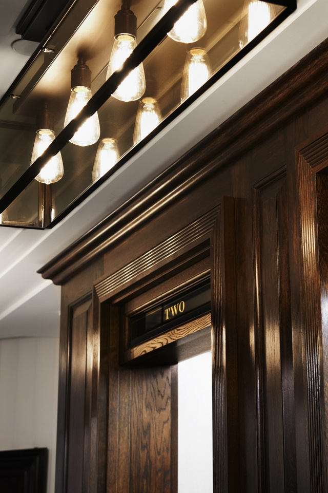 Door casework detail | Inside Burberry 121 Regent Street | New Burberry World Live Flagship London