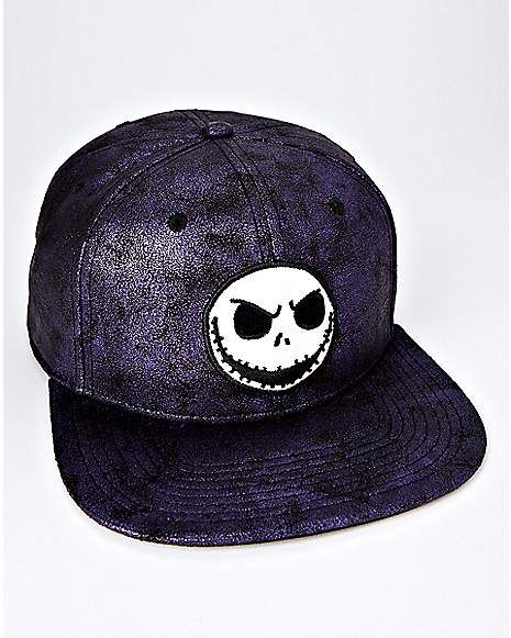 60fc912861b94 Iridescent Jack Skellington Snapback Hat - The Nightmare Before Christmas -  Spencer s