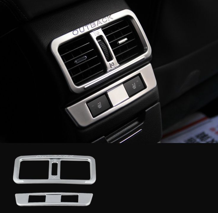 Auto Interior Air Conditioning Vent Trims For  Outback 2015 ABS Chrome ,2pcs/lots Matte Sliver YT-73014