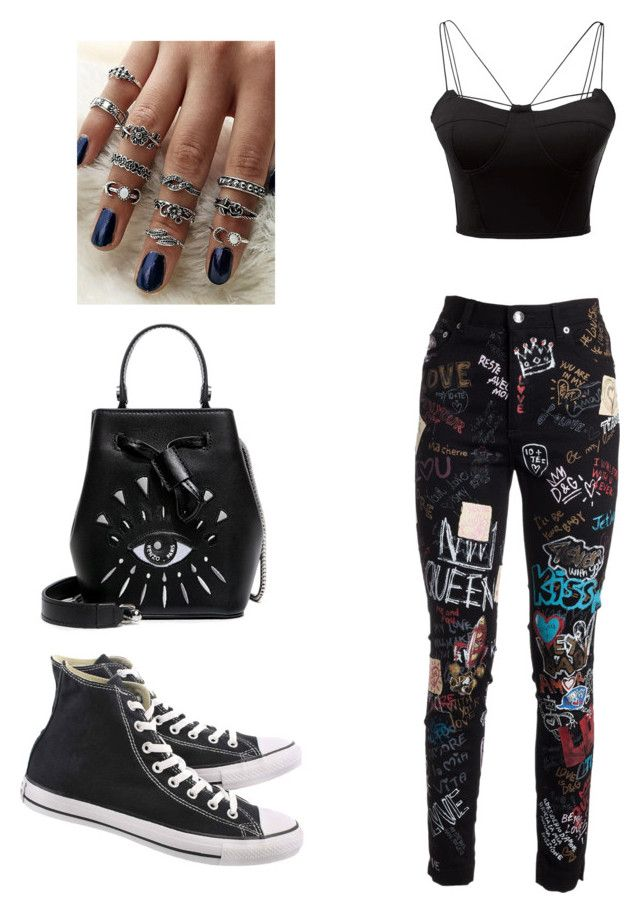 Tomboy / Casual by biudinca on Polyvore featuring polyvore fashion style WithChic Dolce&Gabbana Converse Kenzo clothing