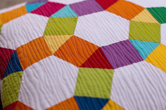 English Paper Pieced Spring Carnival Pillow   Flickr - Photo Sharing!