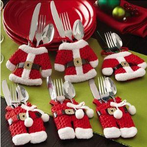 Noel Baba Çatal Bıçak Kılıfı