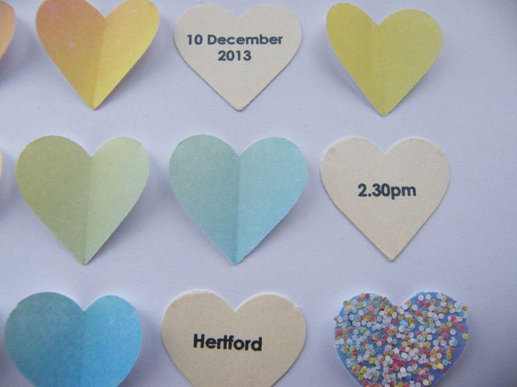 Image of Hearts - Small - Rainbow Confetti