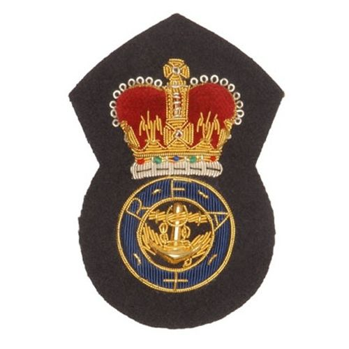 Army Officer's cap badges are gold and silver bullion wire embroidered. Hud Badges make Navy Cap Badges, Crown and Star badges in sew on variety and with Velcro backing. http://hudbadges.com/detail.php?live=1_0_0_46