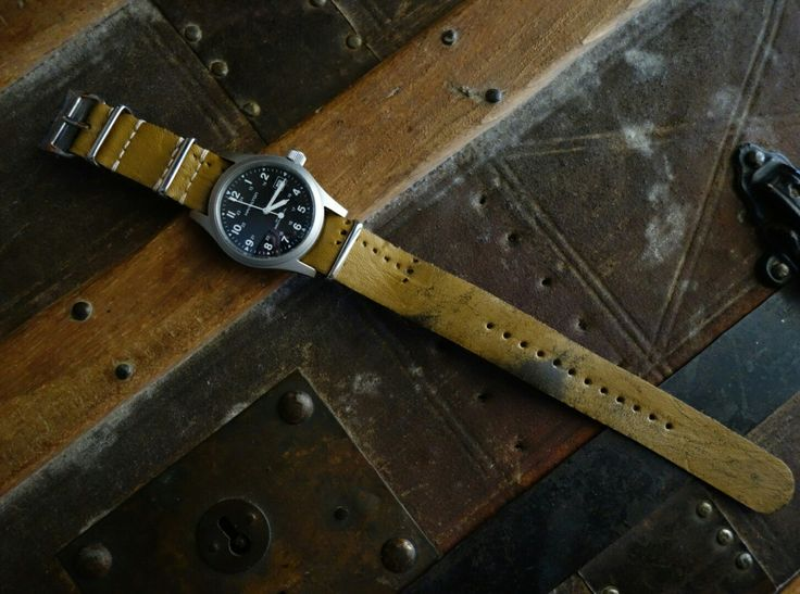 #greenstraps #handwind #hamilton #khaki #mechanical #watchoftheday  #watchporn #military #pilotwatches #pilot #ggw113 #leather  #realleather  #handmade  #handstitching  #handmadecreations #instacamera #military #natostrap #instawatches #swissmade #eta2804 #oldschool #raf #milspec #vintage #affortablewt #ammo #troops #vintagestrap