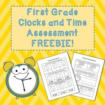 This product assesses the students ability to:Read time phrasesLabel the hour and minute handTell how many seconds in a minute, minutes in an hour, and hours in a dayWrite the time seen on analog clocksDraw the hands of the clock with a given timeMatch digital and analog clocksFollow me for more FREE assessments and worksheets to come very soon!Thank you!