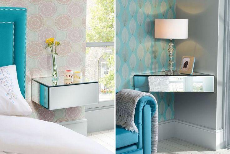Les 25 meilleures id es de la cat gorie meubles peints for Table de chevet bleu