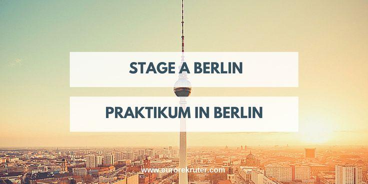Stage à Berlin Stage en Allemagne