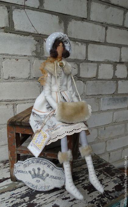 Куклы Тильды ручной работы. Ярмарка Мастеров - ручная работа кукла тильда ручной работы ЗИМНЯЯ БАРЫШНЯ. Handmade.