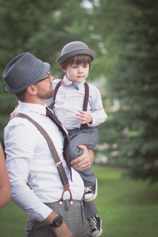 Adorable! Vintage chic groom and ring bearer