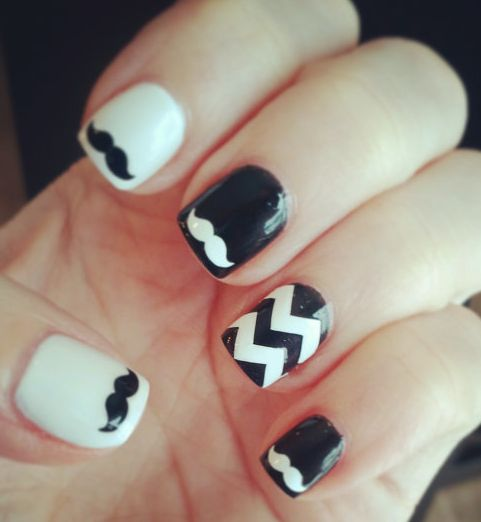 Best 25 mustache nails ideas on pinterest mustache nail art mustache nails im so getting this done prinsesfo Choice Image