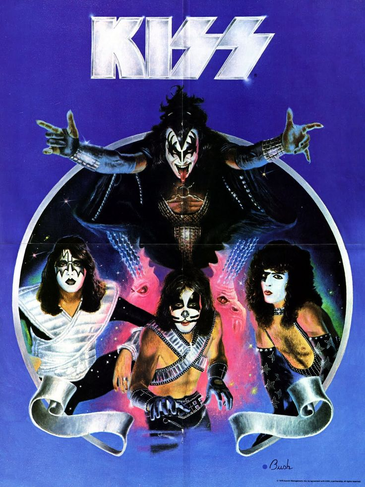 KISS Poster - Love Gun / Alive II Era