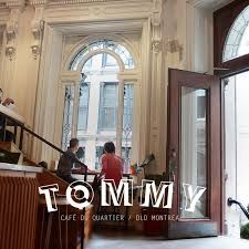 Tommy Cafe in Montreal. This famous shops sells coffee, and alcoholic drinks.