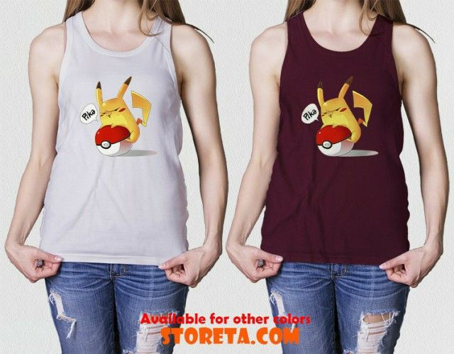 nice Pikachu tank top, Pokemon tank top, Pika tank top for Gildan Tank Top, Made in USA Apparel Tank Top