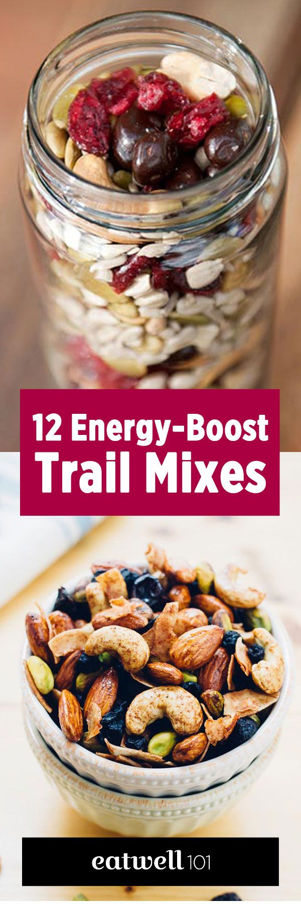 Try one of these 12 recipes for lightweight and portable snacks, full of energy-dense ingredients.