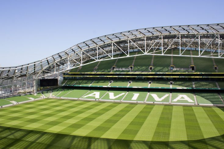 Built in 2007, The bowl shape stadium has four levels on three sides. It   has a capacity of 51,700 spectators. The pitch is 3% artificial and 97%   real grass. Aviva Stadium contains the highest seat in Ireland, two   meters higher than Croke Park.