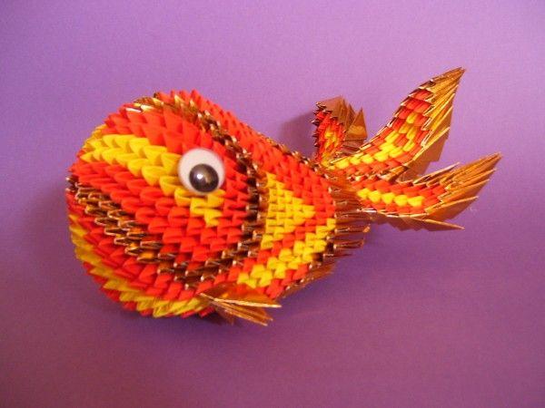 Koi fish 3d origami 3d origami pinterest for Origami koi fish