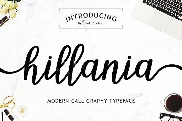 Hillania Script Font by YuliCrafter on @creativemarket