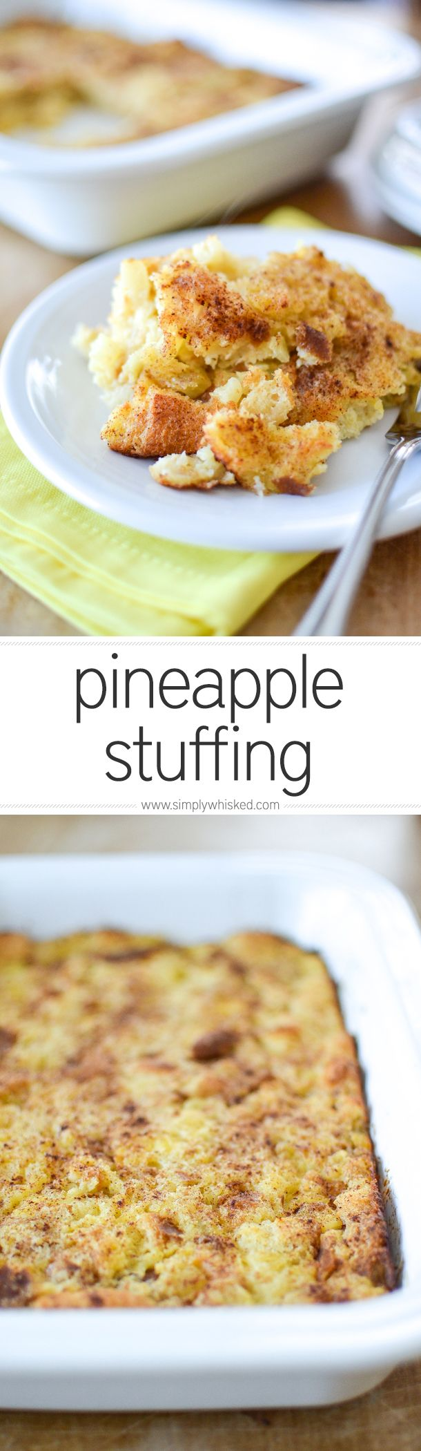 5 Ingredient Pineapple Stuffing | simplywhisked.com
