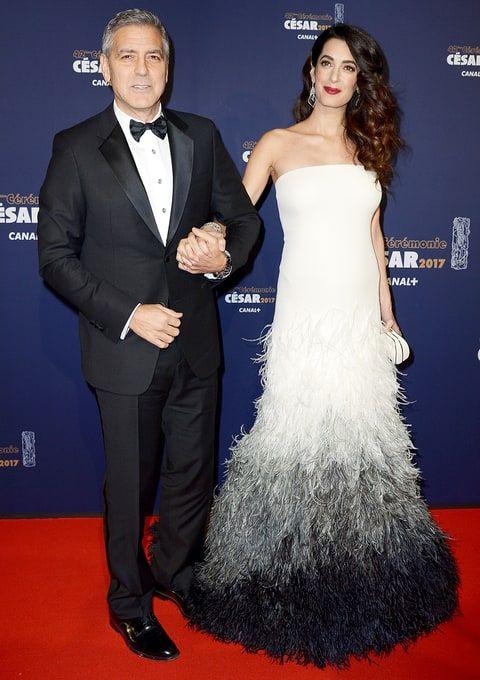 George Clooney Amal pregnant bump