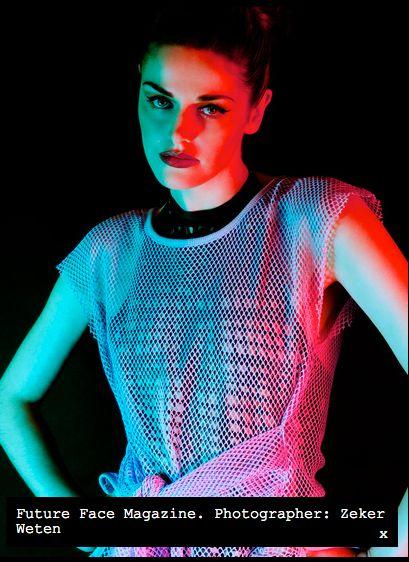Sasha Louise net body in Future Face.