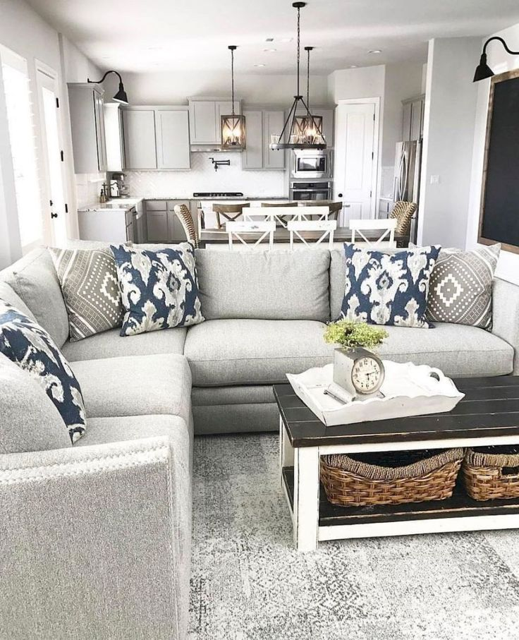 Modern Farmhouse Living Room Decor Ideas (57) #PillowSet