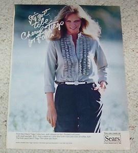 Image detail for -1982 Cheryl Tiegs Sears Clothing Fashion Print 1 PG Ad | eBay