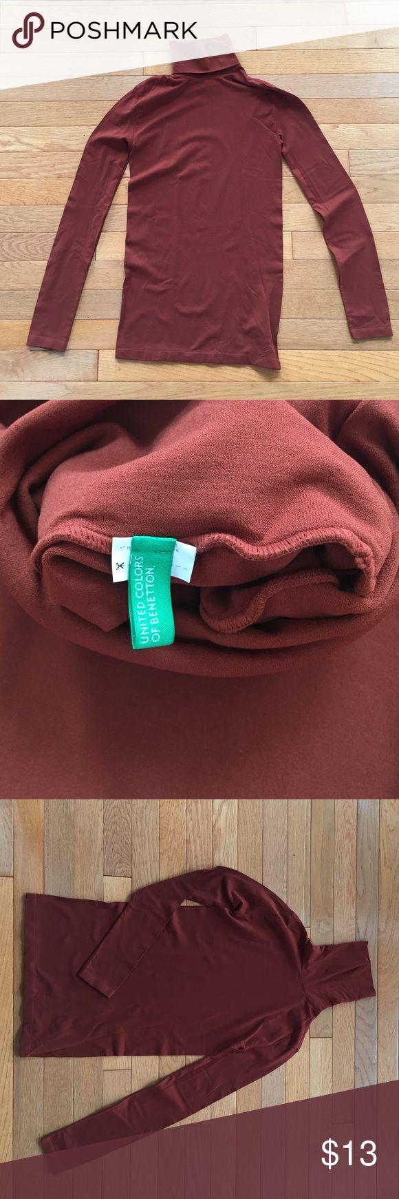 United Colors ofBenetton turtleneck shirt copper S United Colors ofBenetton turtleneck shirt copper brown S women's United Colors Of Benetton Tops