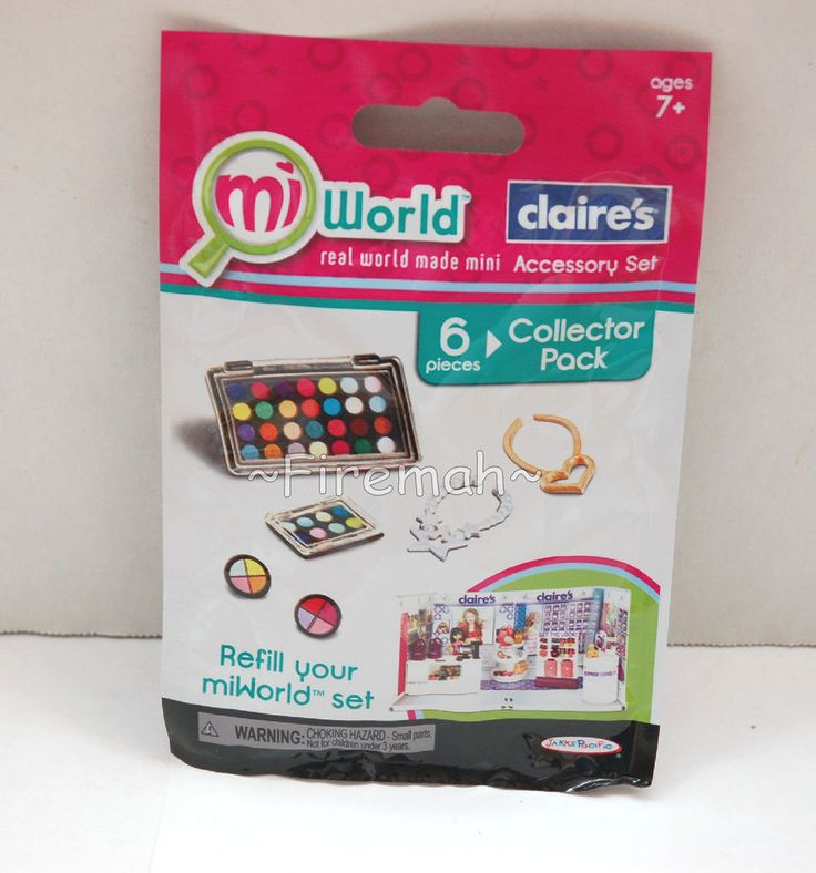 MIWORLD MINI PLAYSET REFILLS 6 PC CLAIRE'S ACCESSORY SHOP STORE MI WORLD REAL