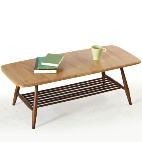 Coffee Table Ercol Solid Wood Elm Beech Retro