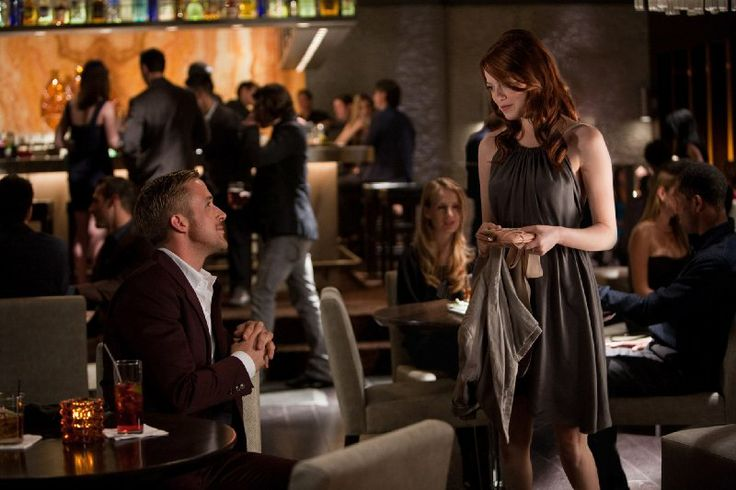 Still of Ryan Gosling and Emma Stone in Crazy, Stupid, Love.