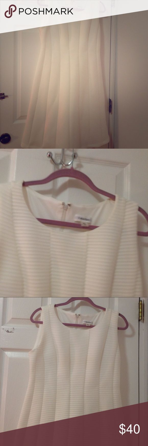 White dresss Calvin Klein 10 Dress Calvin Klein near new Calvin Klein Dresses