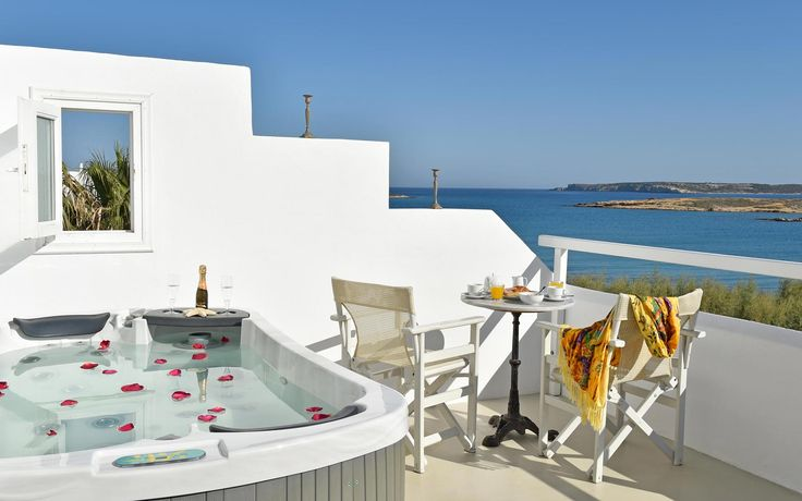 Superior Room with a Jacuzzi, at Kalypso Hotel, on the #Beach_of_Naoussa_Paros.