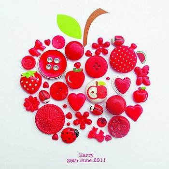 buttons - you could also make a cute card for a teacher like this! Or maybe if you choose apples in your kitchen....