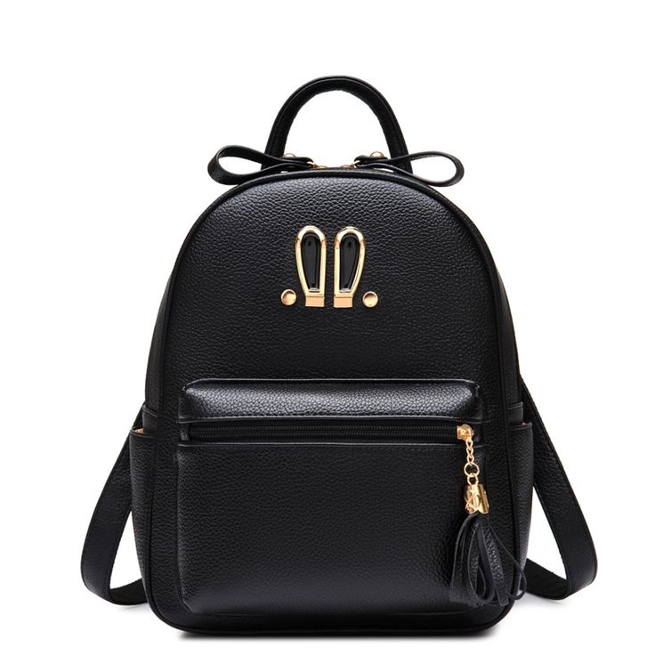 Soft Leather Women Backpack Korean Style Ladies Laptop Bag Daily Backpack Small Tassel Bags for Teenager Girl School Bag Mochila