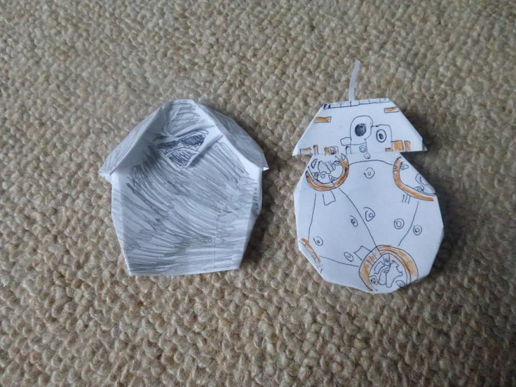 my new origami kylo ren and bb8 star wars origami