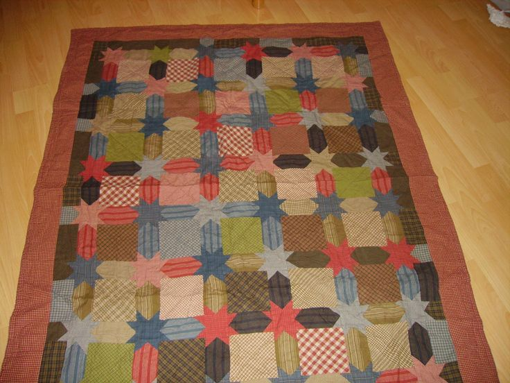 Star-Quilt  Flanell-Stoffe