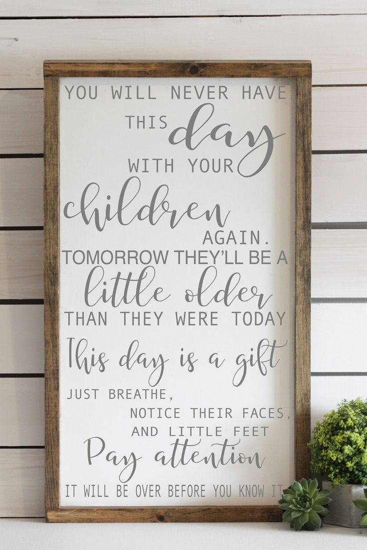 Allow them to be little, What kids want most, wooden signal, household decor, inspirational kids quote, new mother reward – child bathe reward