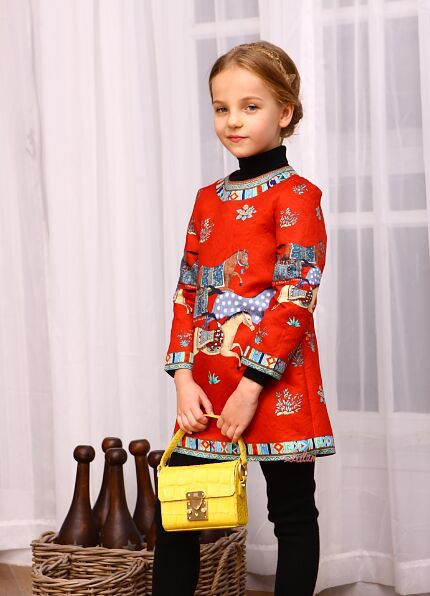 Girls Dress Flower Children Girls Clothing Brand Winter Kids Clothes for Princess Holiday Party Spring Wedding Baby Toddler