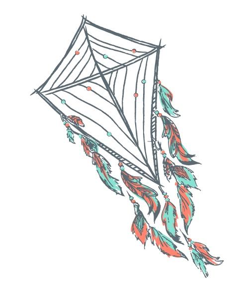 Kite dreamcatcher
