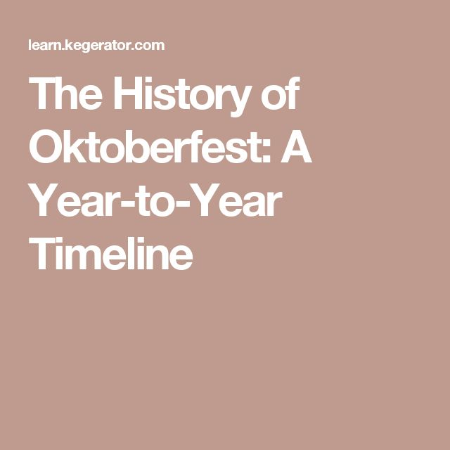 The History of Oktoberfest: A Year-to-Year Timeline
