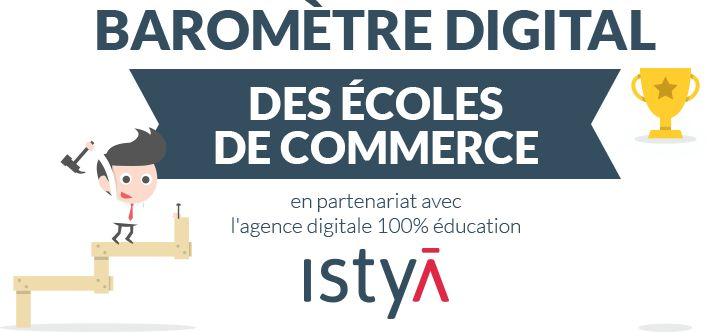 Classement Digital des Ecoles de Commerce : Les + visibles sur les Medias Sociaux, Web et Mobile